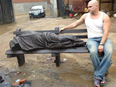 homeless jesus on park bench jesus the homeless finds a home ny daily news