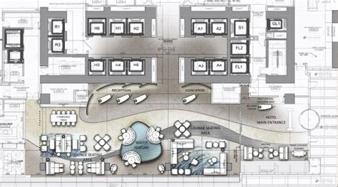 hotel reception layout plan 5 star hotel plan of reception and lobby interior design