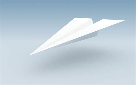 A Paper Airplane - chinked out the paper plane