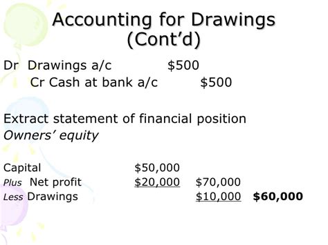 Drawings T Account by Chapter 4 Entry Recording Process