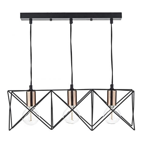 ceiling bar lights geometric retro pendant light with black open frame with exposed bulbs