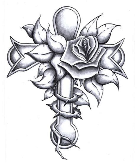 cross with wings and roses tattoo ideas cross designs best designs