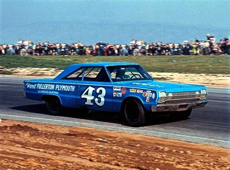 Richard Petty 43 by Richard Petty 43 Plymouth 1967 Riverside Photograph By