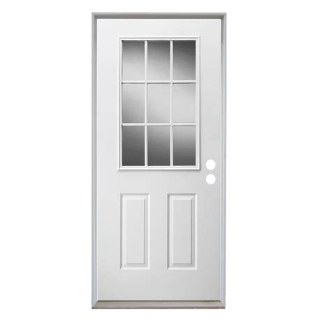 9 Lite Door by Shop Reliabilt 2 Panel Insulating 9 Lite Left