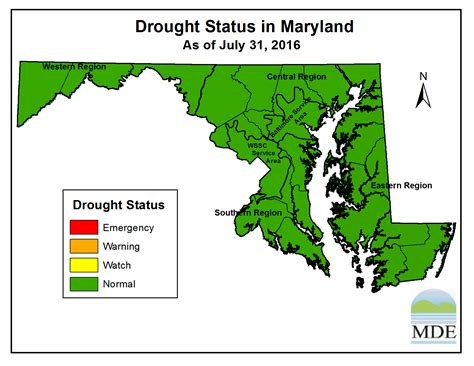 maryland drought map drought status in maryland