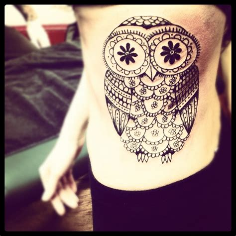 my owl tattoo a mix between a sugar skull amp an owl love