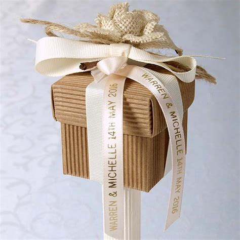 Wedding Favors Ribbons by Personalised Ribbon Uk Wedding Favours