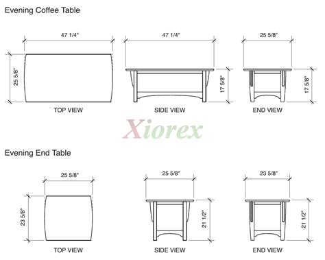 table dimensions coffee table dimensions diy woodworking projects