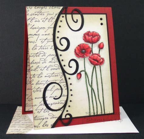 How To Make Handmade File Covers - handmade stin up poppy card beautiful flowers