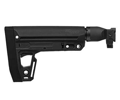 sig sauer mcx/mpx black telescoping/ folding stock for