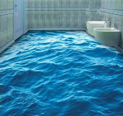 Water Bathroom Floor bringing the outdoors inside with epoxy floors