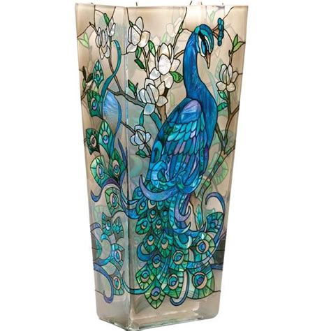 Glass Painting Designs For Vases by Peacock Themed Bedroom Design Ideas Glass Painting