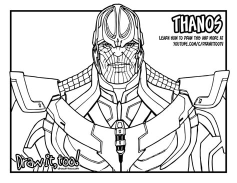 marvel thanos coloring pages thanos marvel cinematic universe draw it too