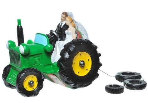 braut traktor dekofigur brautpaar auf traktor braut br 228 utigam hochzeit