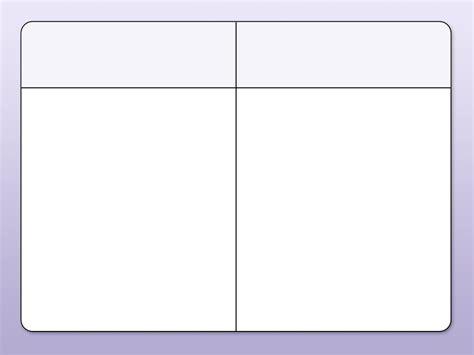 column templates 2 column chart templates world of printable and chart