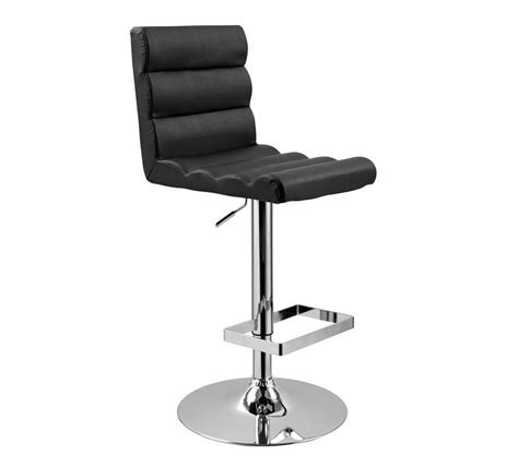 Modern Leather Bar Stools dreamfurniture t1066 eco leather bar black stool