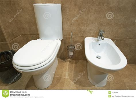 toilet bowl with bidet toilet bowl stock photo image of neat seat chrome