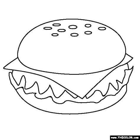 color burger cheeseburger coloring page