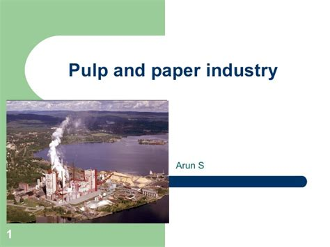 Pulp And Paper - pulp and paper industry