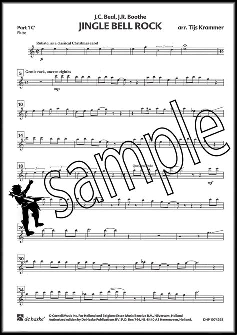 jingle bells rock testo jingle bell rock for variable wind quintet score and parts