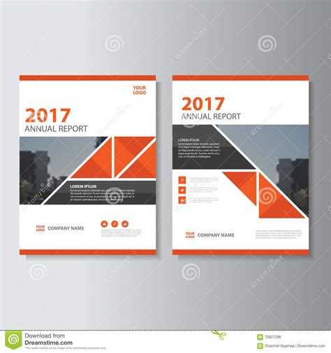 triangle vector annual report leaflet brochure flyer