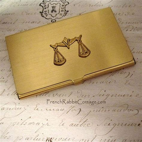 kreditkarte rechtsanwalt scales of justice business card accessory gift for