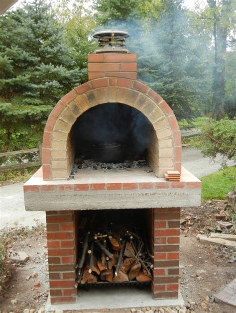 build a brick oven backyard homemade outdoor pizza oven plans wood burning pizza