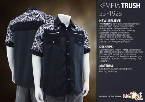 Kemeja Batik Pria Hitam Putih Monokrom Elegan Batik Pekalongan nuansa elegan warna hitam sarimbit batik new believe trust