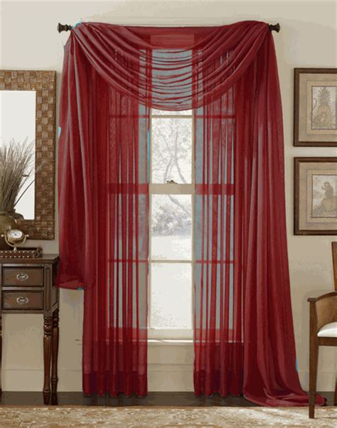 cranberry curtains stylemaster elegance sheer curtain and scarf panels