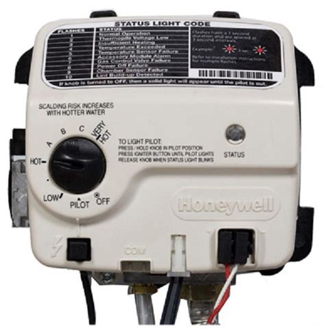 honeywell 9007631 electronic ultra lownox water heater gas