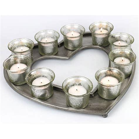 Votive Candle Tray Antique Silver Shape 10 Votive Candle Holder
