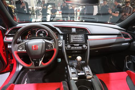 honda civic 2017 interior 2017 honda civic type r interior 02 motor trend