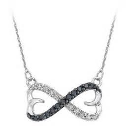 Luminox Chain Black White sterling silver black white infinity pendant