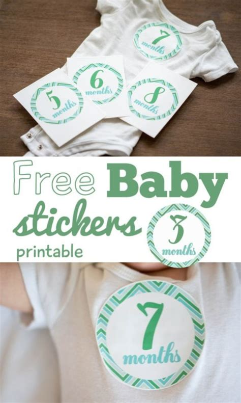 Printable Monthly Baby Boy Stickers