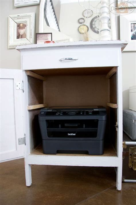 hide printer best 25 printer storage ideas on
