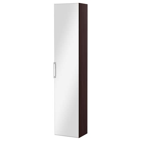 Ikea Bathroom Mirror Cabinet Godmorgon High Cabinet With Mirror Door Black Brown 40x32x192 Cm Ikea