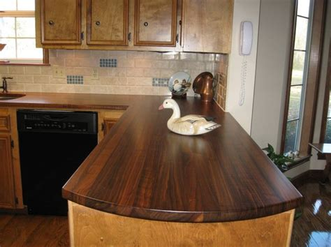 Diy Wood Kitchen Countertops Wooden Diy Countertop Remodeling Pinterest