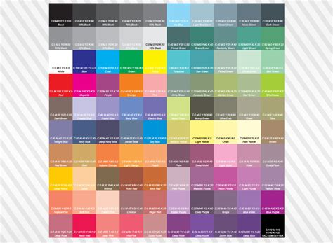 cmyk color chart jpg 1024 215 750 crafty