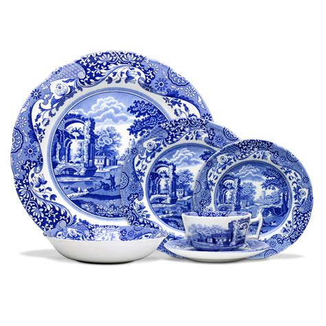 Bluss Set spode blue italian dinner set 24pce s of kensington