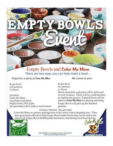 color me mine maple grove let your creativity flow as you fill empty bowls empty