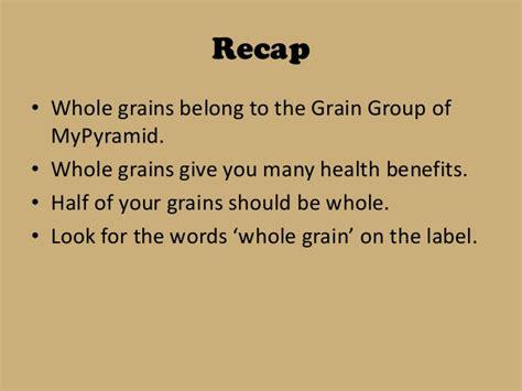 whole grains importance importance of whole grains
