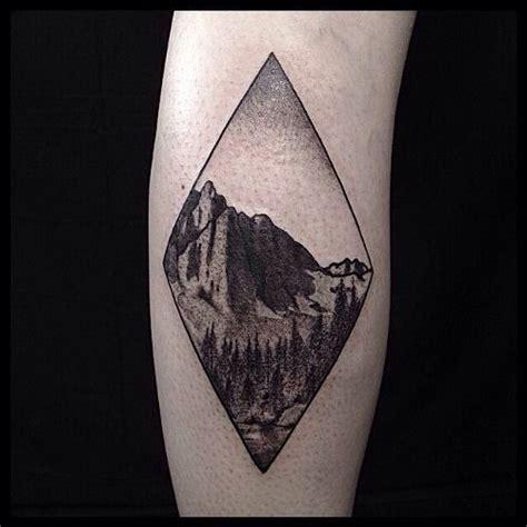 diamond nature tattoo mountain tattoo tumblr tattoodoodles pinterest
