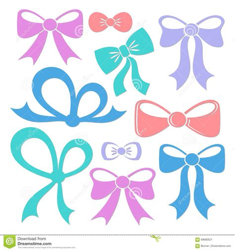 colorful bows colorful decorative bows stock vector image 69680521