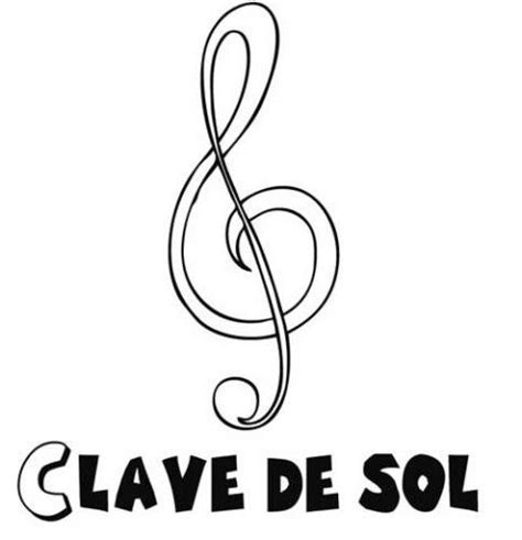 imagenes nota musical sol dibujos infantiles de una clave de sol para colorear por