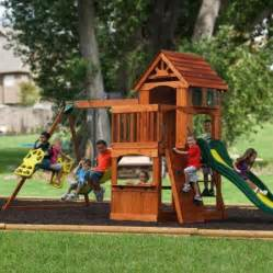 Backyard Discovery Atlantis Swing Set Backyard Discovery Atlantis Cedar Wooden Swing Set