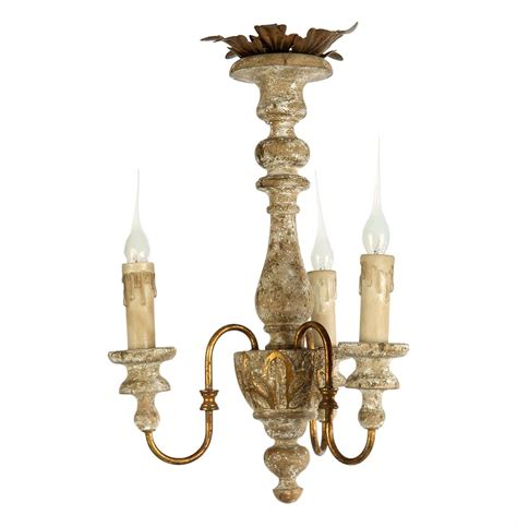 Distressed Chandeliers Turin Country Rustic 3 Light Distressed White Mini Chandelier