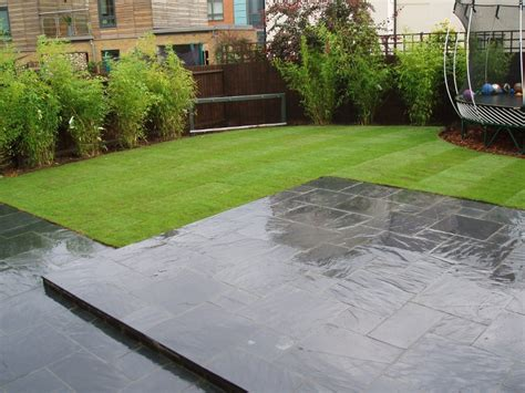 Grey Slate Patio patios turnabout drives
