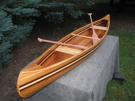 Handmade Canoe - crafted display canoe handmade michigan