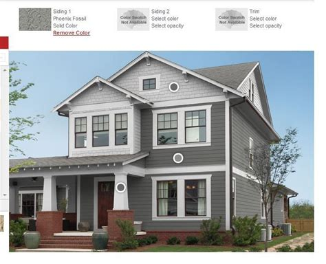 pheonix fossil olympic gray house exterior siding the brick home the