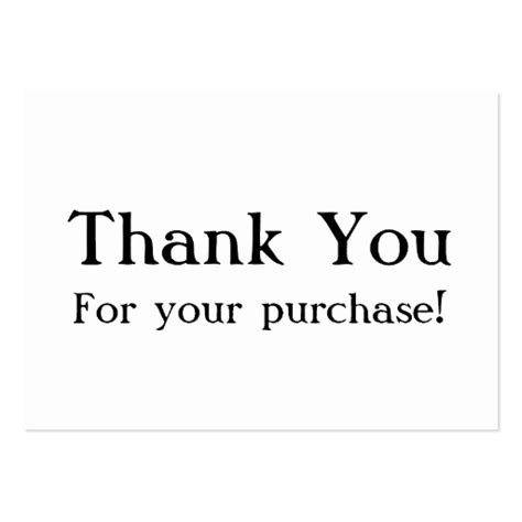 white thank you for your purchase cards large business